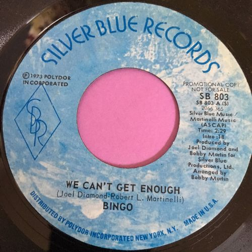 Bingo-We can't gt enough-Silver blue M-