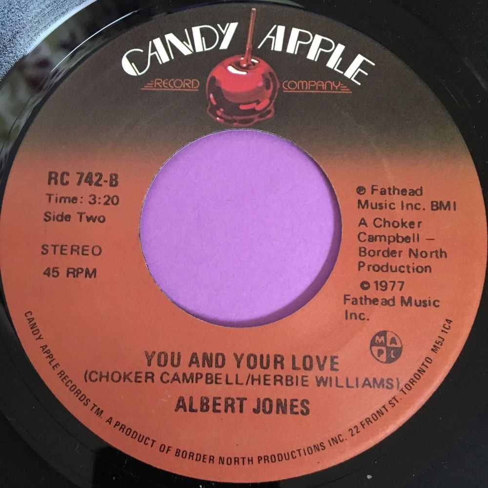 Albert Jones-You and your new love-Candy apple M-