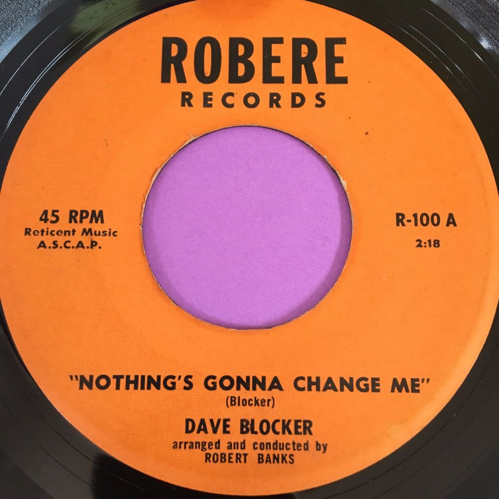 Dave Blocker-Nothing's gonna change-Robre E