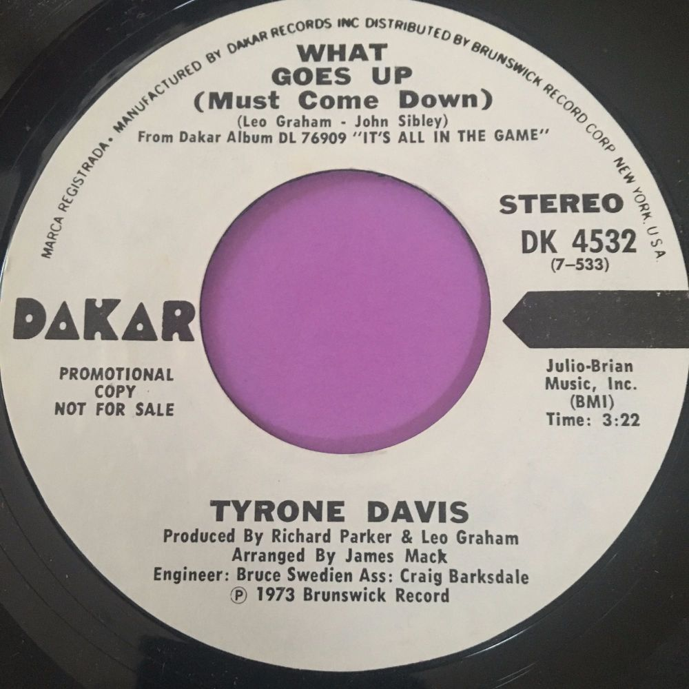 Tyrone Davis-What goes up-Dakar WD E+