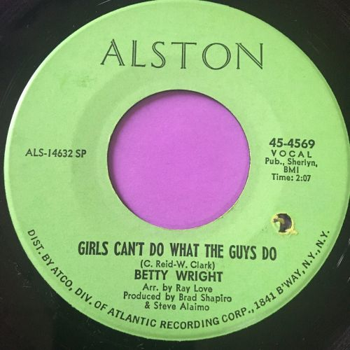 Betty Wright-Girls can't do what the guys do-Alston E+
