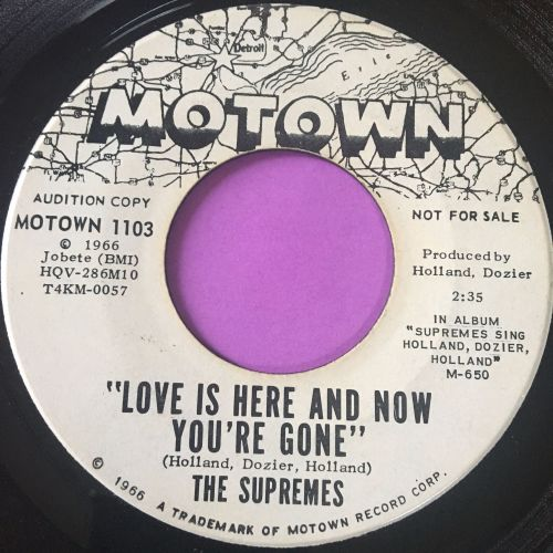 Supremes-Love is here and now you're gone-Motown WD E
