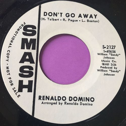Renaldo Domino-Don't go away-Smash WD E+