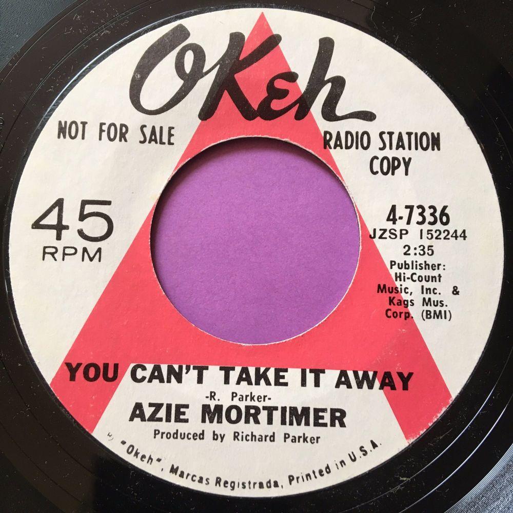 Azie Mortimer-You can't take it away-Okeh WD E+
