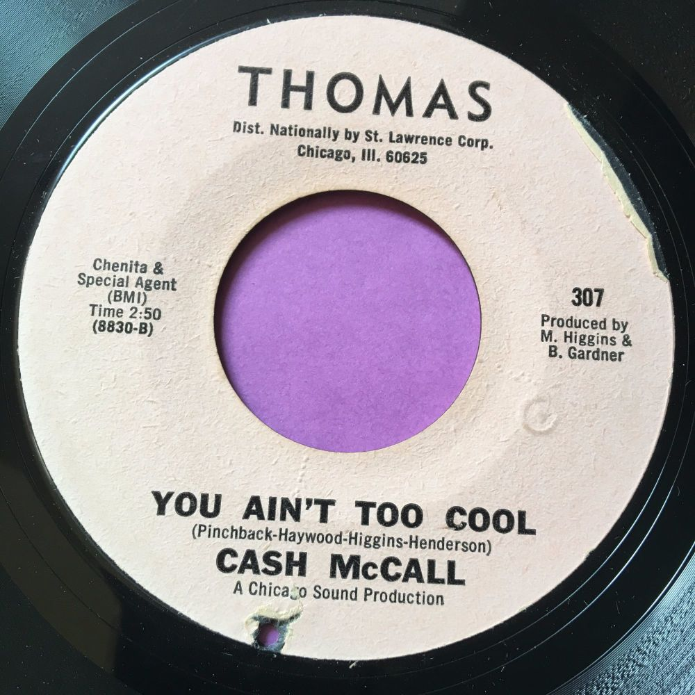 Cash McCall-You ain't too cool-Thomas E+