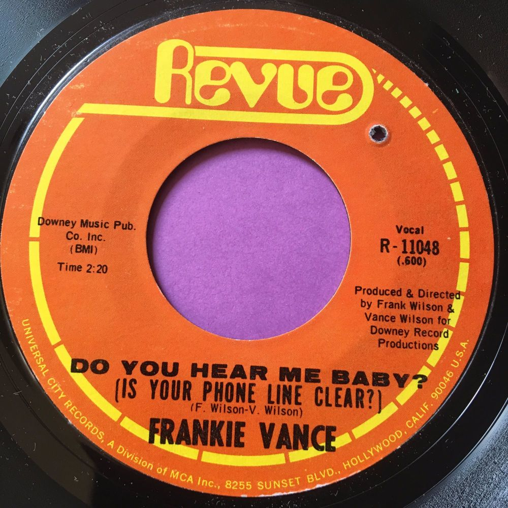 Frankie Vance-Do you hear me baby-Revue E+