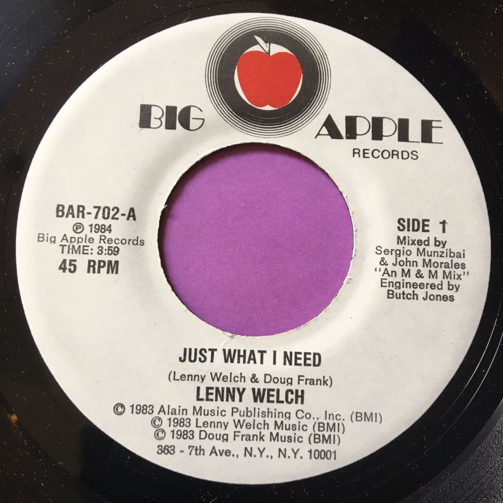 Lenny Welch-Just what I need-Big apple E+