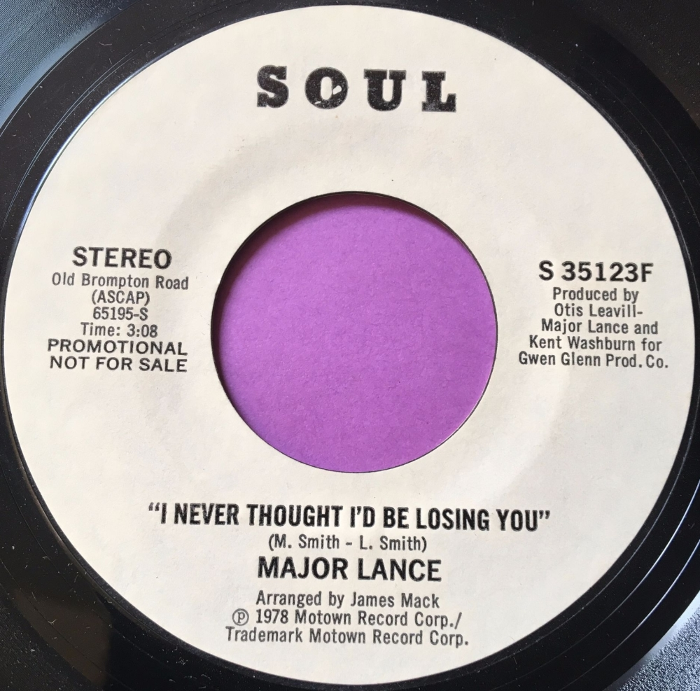 Major Lance-I never thought I'b be losing you-Soul WD E+