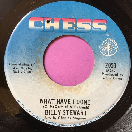 Billy Stewart-What have I done-Chess E+