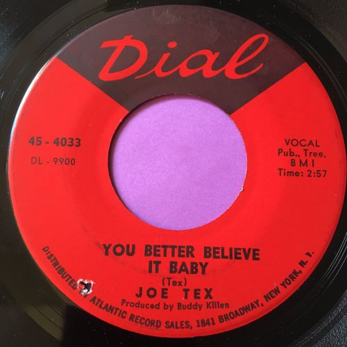 Joe Tex-You better believe it baby-Dial E+