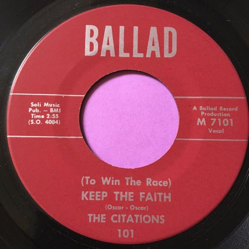 Citations-Keep the faith-Ballad M-