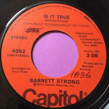 Barrett Strong-Is it true-Capitol wol E+