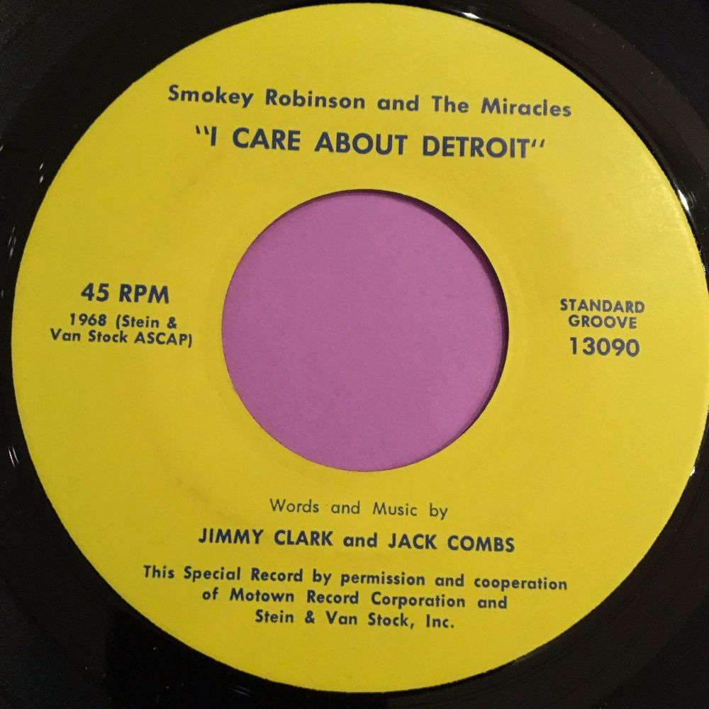 Smokey Robinson-I care about Detroit-Standard Groove M-