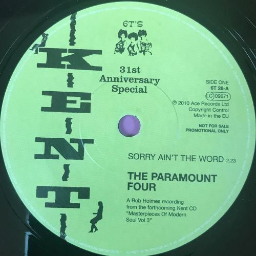 Paramount Four-Sorry ain't the word-Kent 31st Anniversary E+