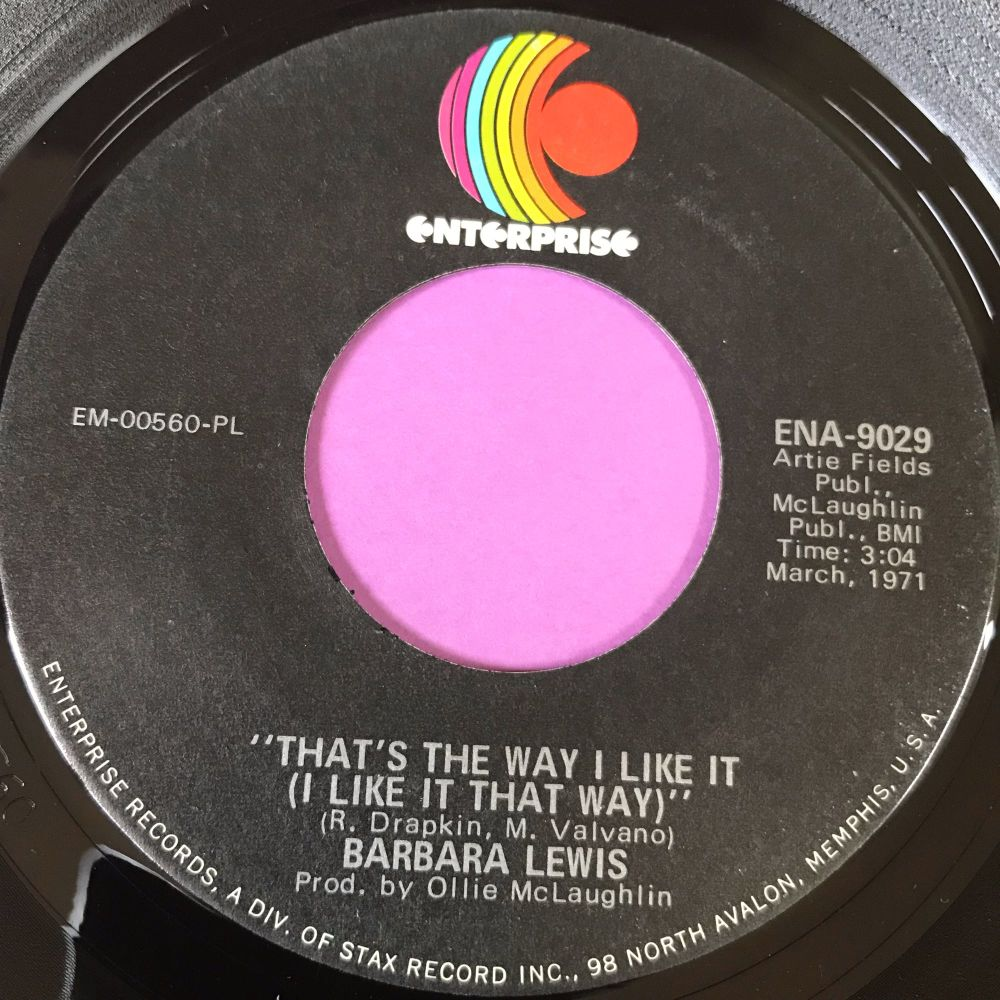Barbara Lewis-That's the way I like it-Enterprise E+