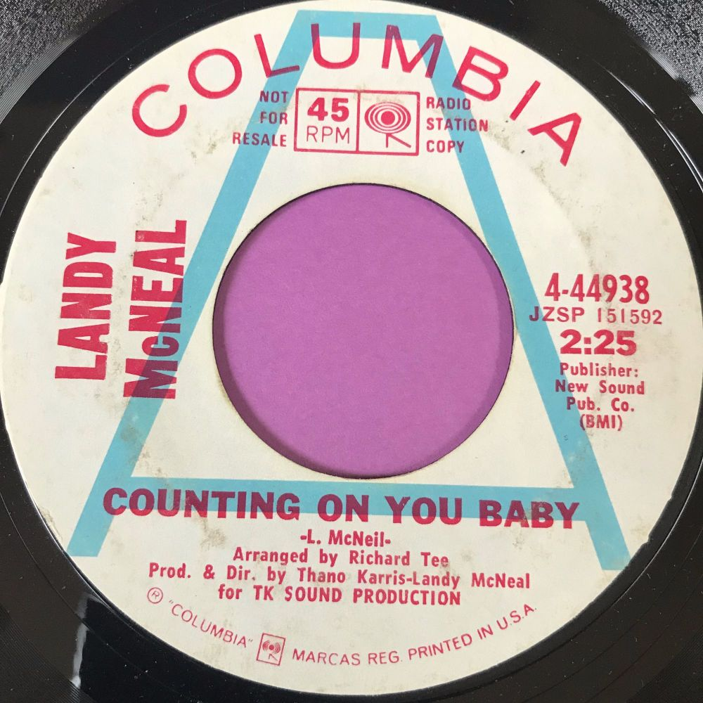 Landy McNeal-Counting on you baby-Columbia WD E+