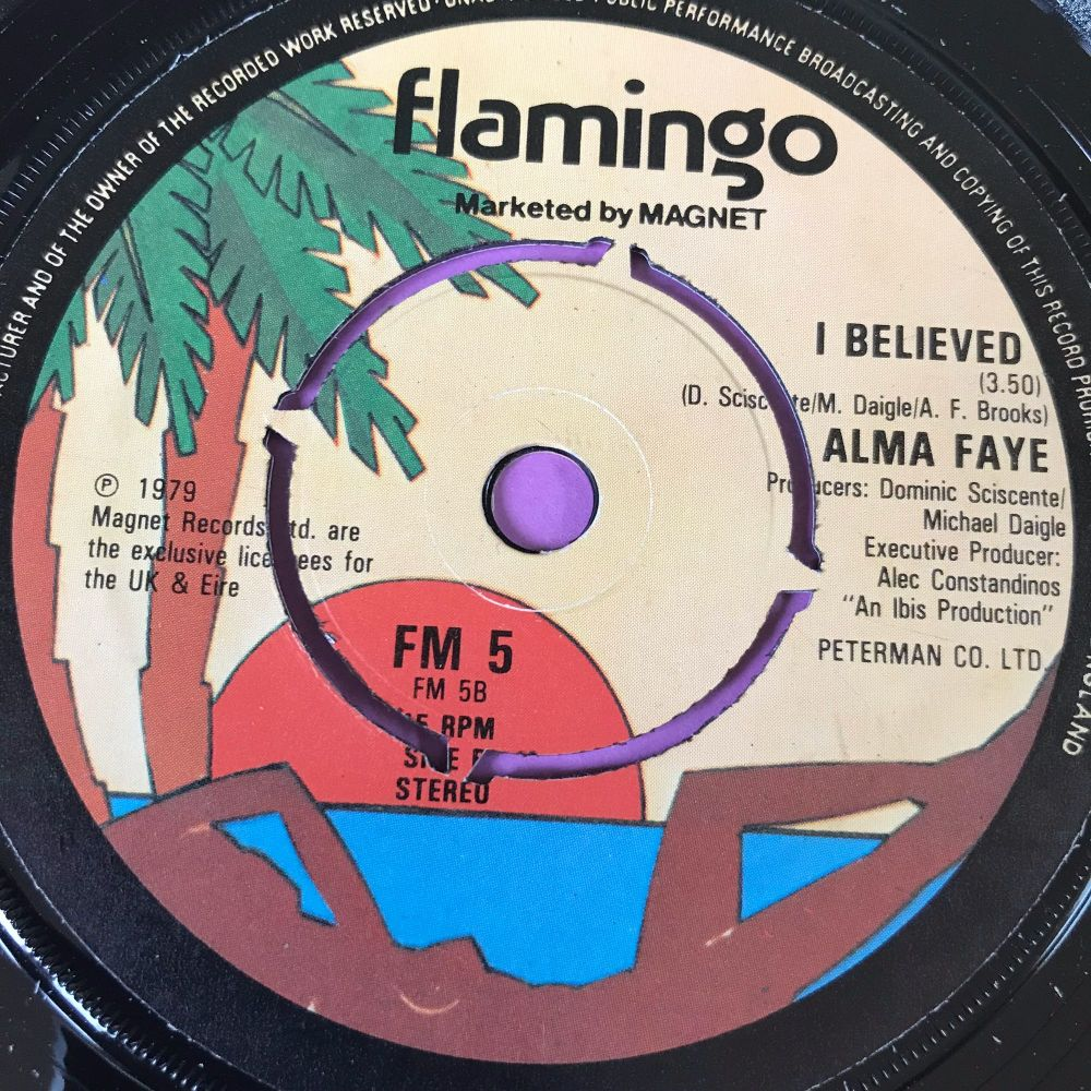 Alma Faye-I believed-UK Flamingo M-