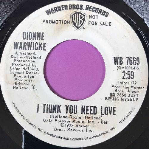 Dionne Warwick-I think you need love-WB WD E+