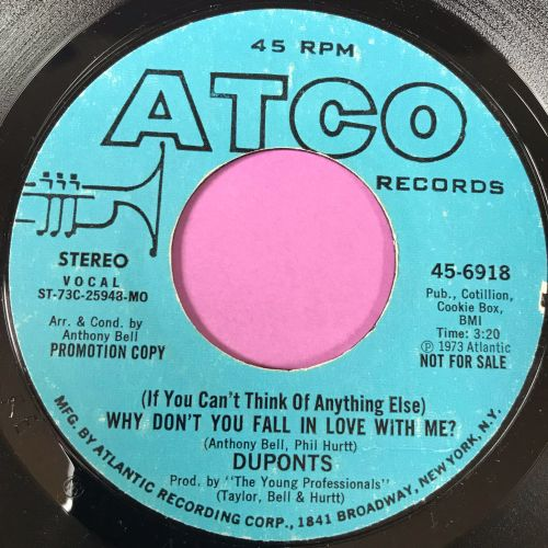 Duponts-Why don't you fall in love....-Atco Demo E+