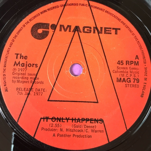 Majors-It only happens-UK Magnet vg+
