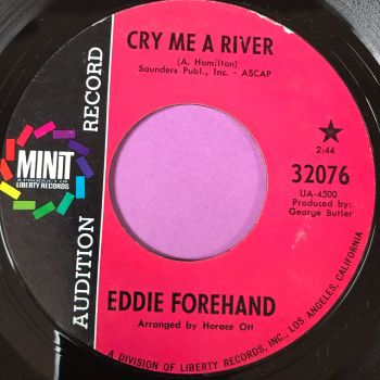 Eddie Forehand-Cry me a river/ City of blues-Minit Demo E+