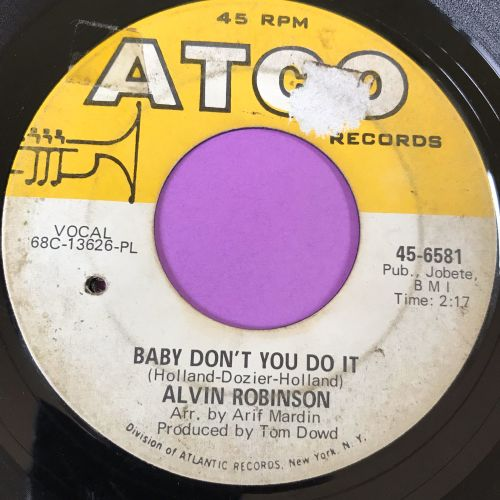 Alvin Robinson-Baby don't you do it-Atco vg+