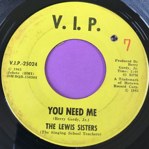 Lewis Sisters-You need me-VIP E+