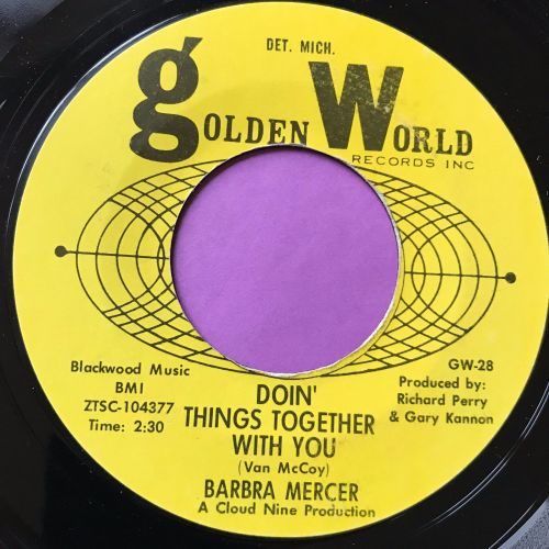 Barbara Mercer-Doin' things together with you-Golden world E+