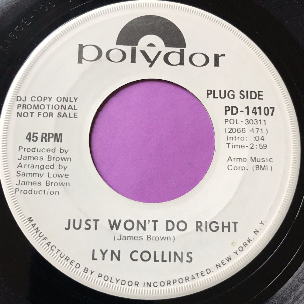 Lyn Collins-Just won't do right/Wheels of life-Polydor WD E
