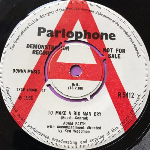 Adam faith-To make a big man cry-UK Parlophone WD E