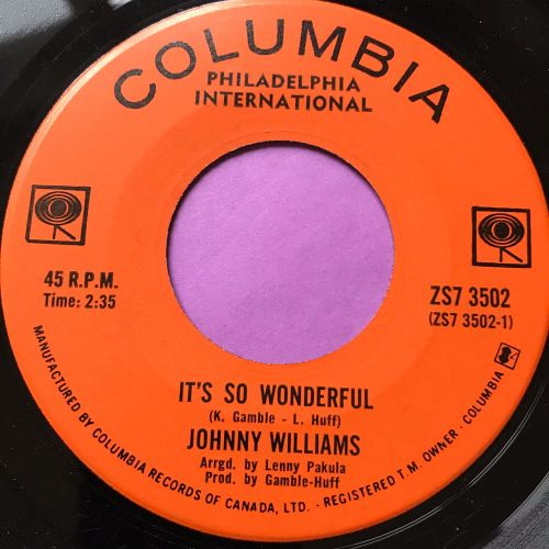 Johnny Williams-It's so wonderful-Canadian Columbia E+