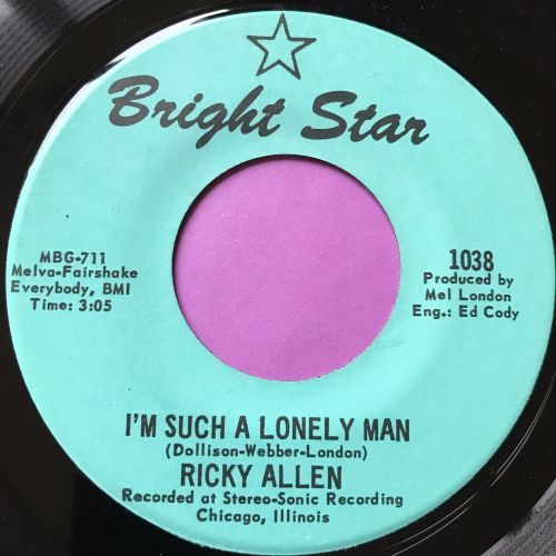 Ricky Allen-I'm such a lonely man-Bright star E+