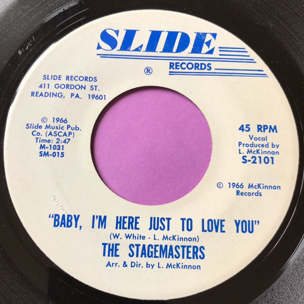 Stagemasters-Baby I'm here just to love you-Slide E