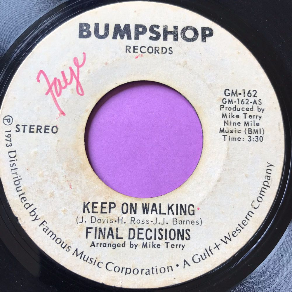 Final decisions-Keep on walking-Bumpshot WD wol vg+