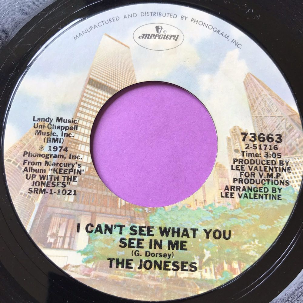 Joneses-I can't see what you see in me-Mercury E