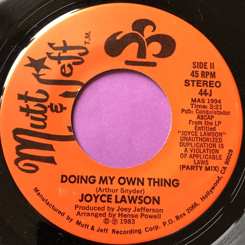 Joyce Lawson-Doing my own thing-Mutt & Jeff E+