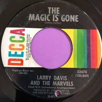 Larry Davis-The magic is gone-Decca vg+