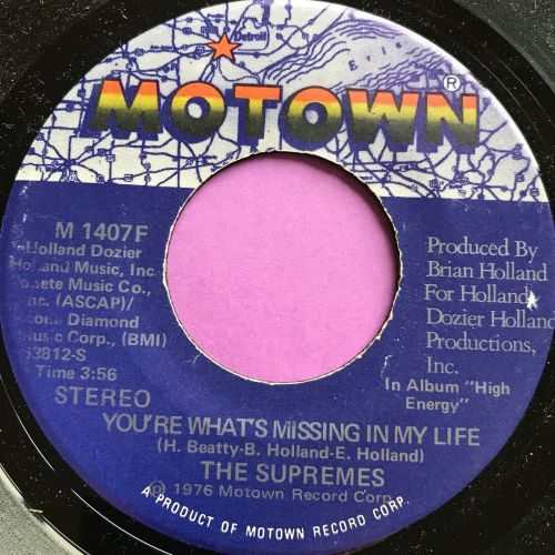 Supremes-You're what's missing in my life-Motown E+