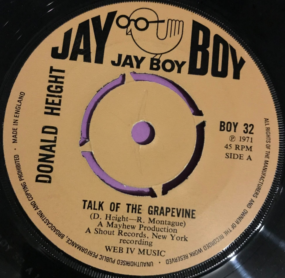 Donald Height-Talk of the grapevine-UK Jayboy E+