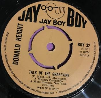 Donald Height-Talk of the grapevine-UK Jayboy E+