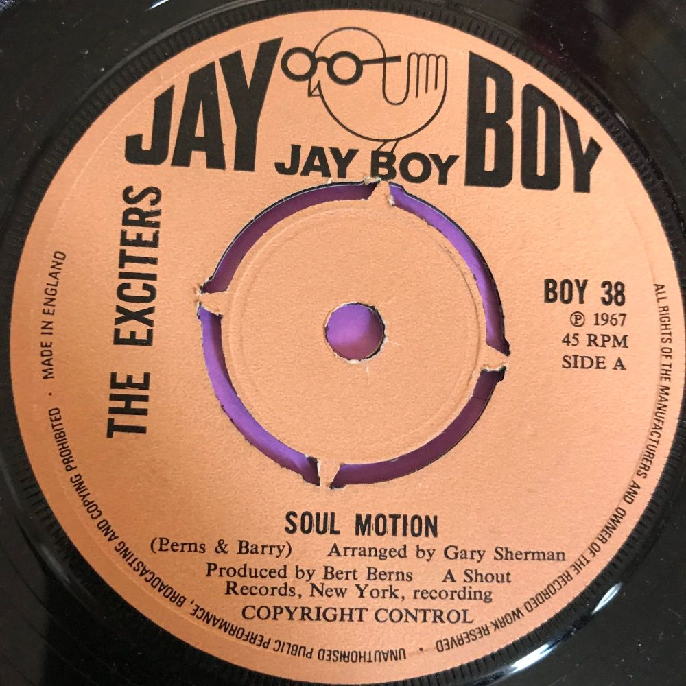 Exciters-Soul motion/ You know it ain't right-UK Jayboy E