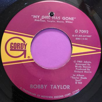 Bobby Taylor-My girl has gone-Gordy E