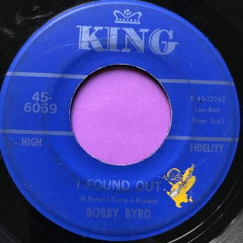 Bobby Byrd-I found out-King vg+