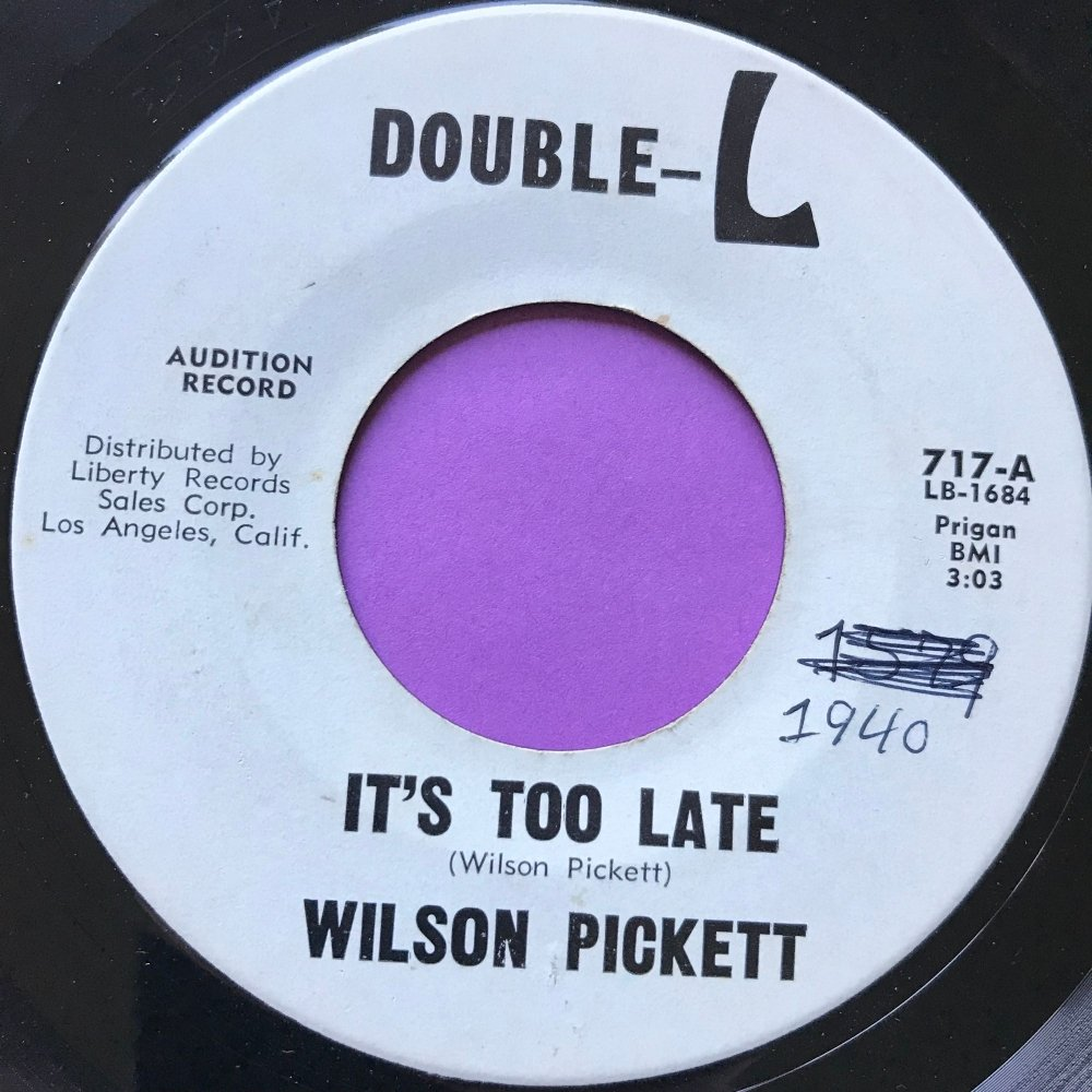 Wilson Pickett-It's not too late-Double L WD E+