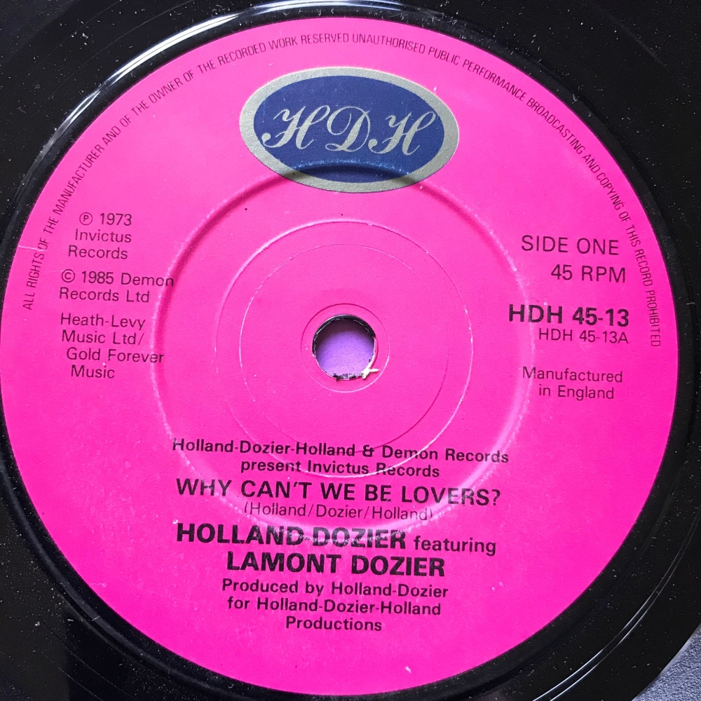 Holland Dozier-Why can't we be lovers-UK HDH E+