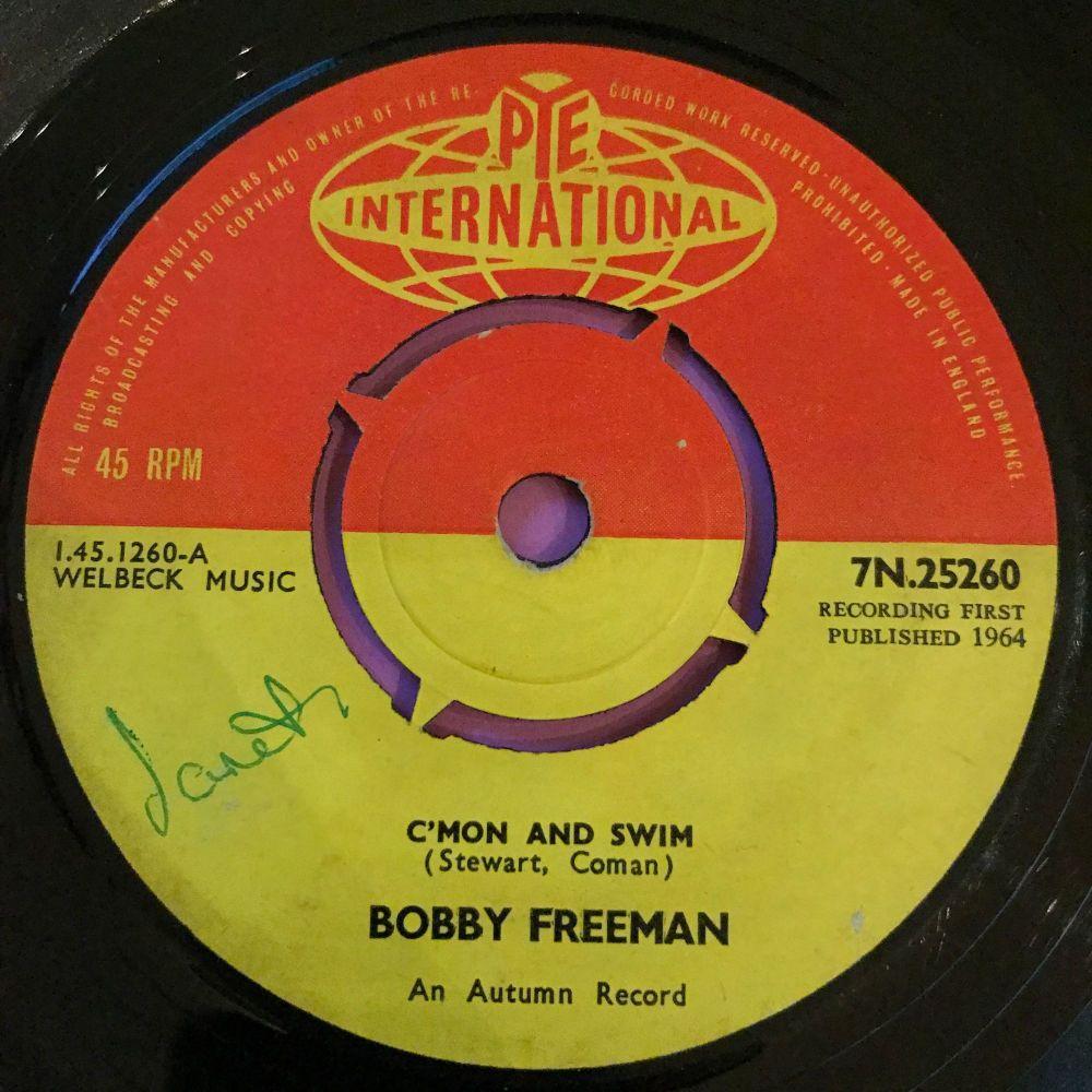 Bobby Freeman-C'mon and swim-UK Pye international E
