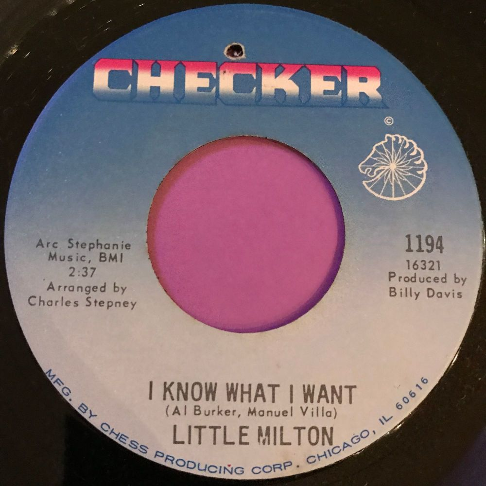 Little Milton-I know what I want-Checker E+