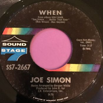 Joe Simon-When-Sound stage 7 E