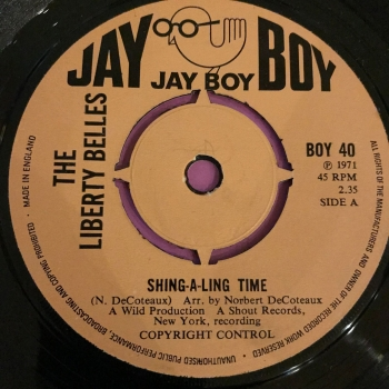 Liberty Belles-Shing-a-ling Time-UK Jayboy M-
