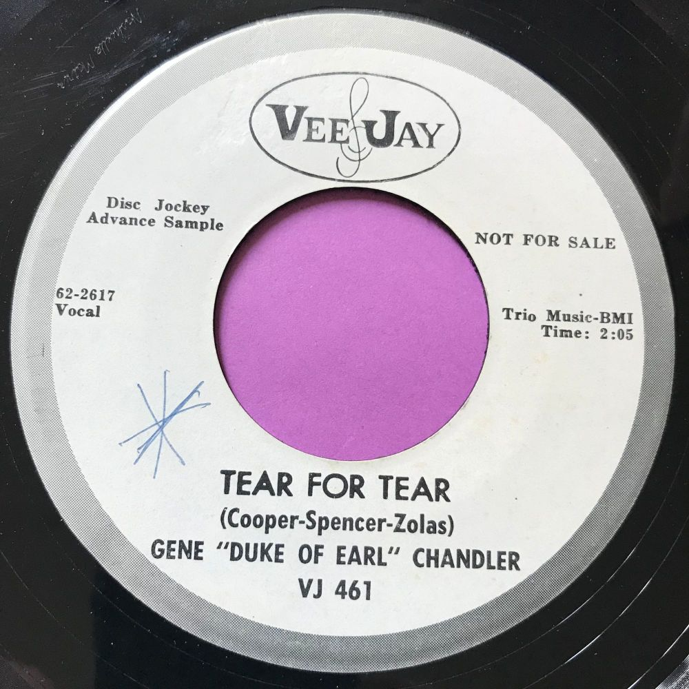Gene Chandler-Tear for tear-VJ WD wol vg+